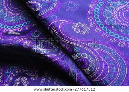 natural silk fold fabric texture - stock photo