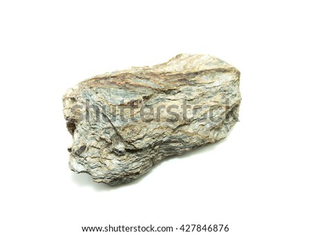 Natural stone on white background - stock photo