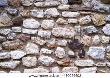 Natural stone wall - stock photo