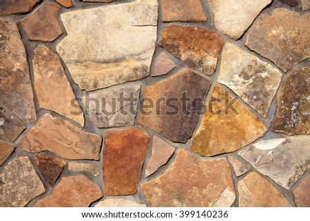 Natural stone wall materials in classic building patterns and methods for sample texture and background - stock photo