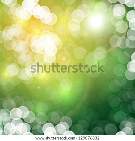 Natural summer abstract bokeh background - raster bitmap version - stock photo