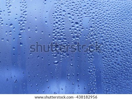 Natural texture with water drops on glass