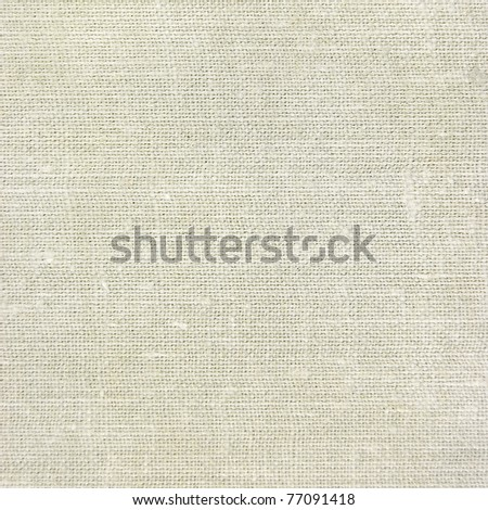 Natural vintage linen burlap textured fabric texture, old rustic canvas background in tan, beige, yellowish, grey - stock photo