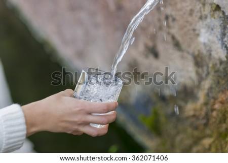 Natural water. - stock photo