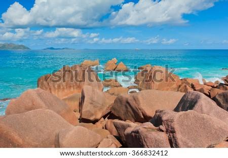 Natural Wonder Violent Surf  - stock photo