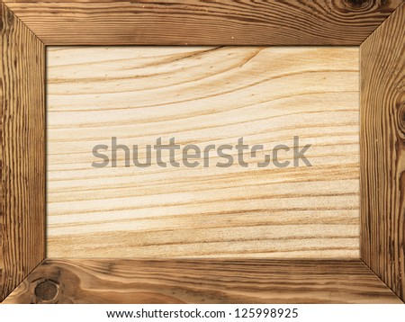 natural wood frame with wooden plank inside - Wood Frame