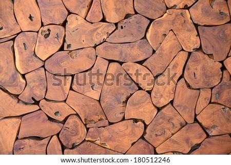 natural wood grain texture - stock photo