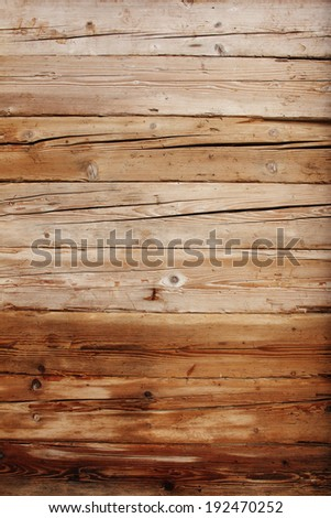 Natural wooden panels