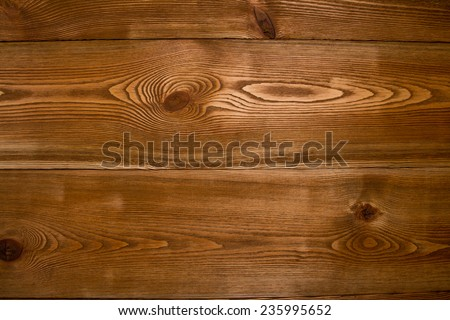 Natural wooden table - stock photo