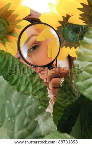 naturalist - stock photo