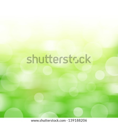 Nature abstract background with motion bokeh