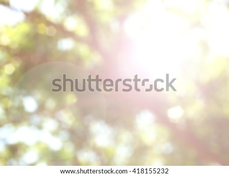 Nature abstract bokeh blurred background. give life air Tree growth day hot summer future outdoor earth backdrop green natural room heaven blur sustainability fun be moody Mineral Good eyesight - stock photo