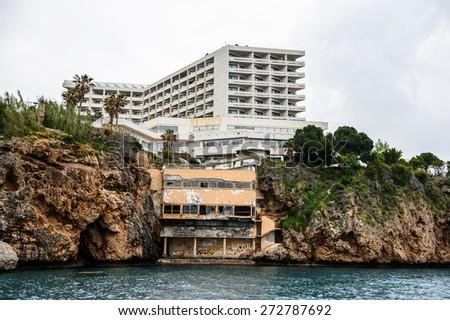 Nature and architecture of Antalya, Turkey - stock photo