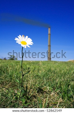 nature and industry - stock photo