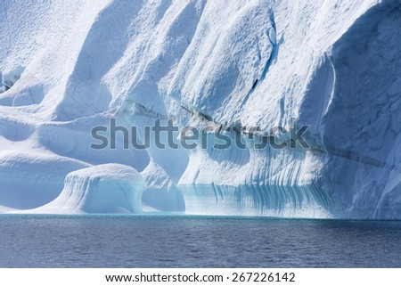 Nature and landscapes of Antarctic.Travel on the scientific vessel among ices. Studying of a phenomenon of global warming. Ices and icebergs of unusual forms and colors.