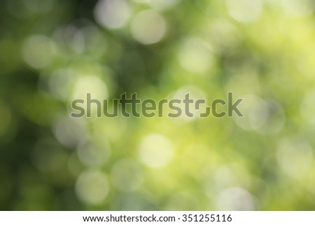 Nature background. Abstract blurred summer green bokeh - stock photo