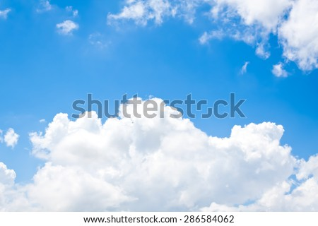 nature background soft focus. white clouds over blue sky soft focus.