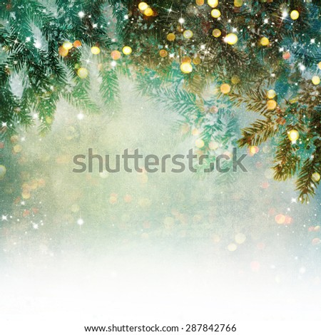 Nature background with lighten bokeh - stock photo