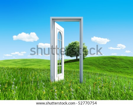 Nature collection - Door to success - stock photo