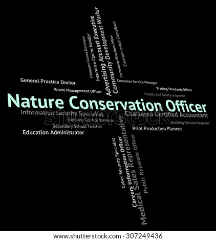 Nature Conservation Officer Showing Go Green And Tree - stock photo