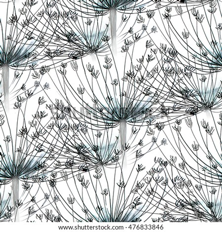 nature dry grass and leaves seamless pattern background