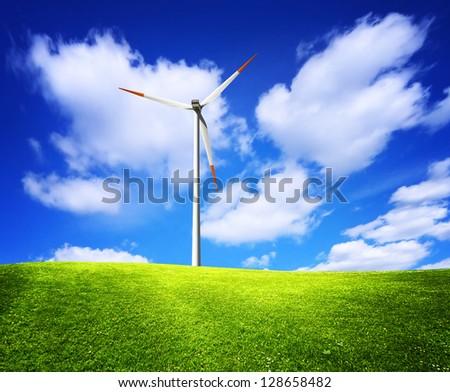 Nature green landscape - stock photo