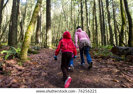 Nature Hike - stock photo
