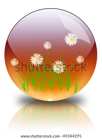 Nature in a glass bowl - stock photo