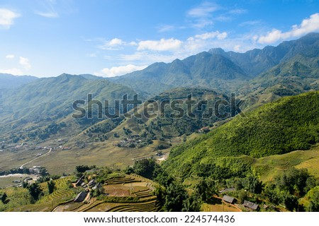 Nature landscape of the Northern Vietnam
