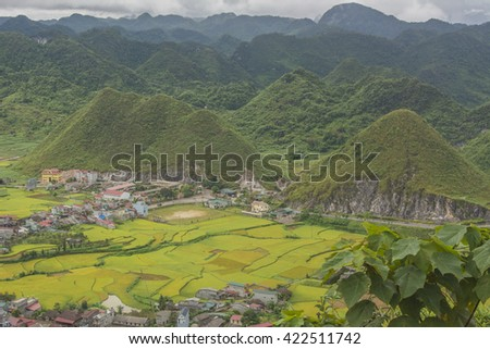 Nature mountain landscape in Ha Giang, Vietnam