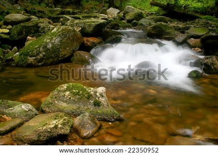 Nature mountain stream