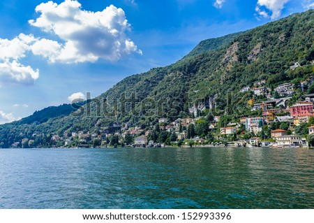 Nature of the Lake Como, Lombardy, Italy.