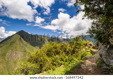 Nature of the Peruvian Andes - stock photo