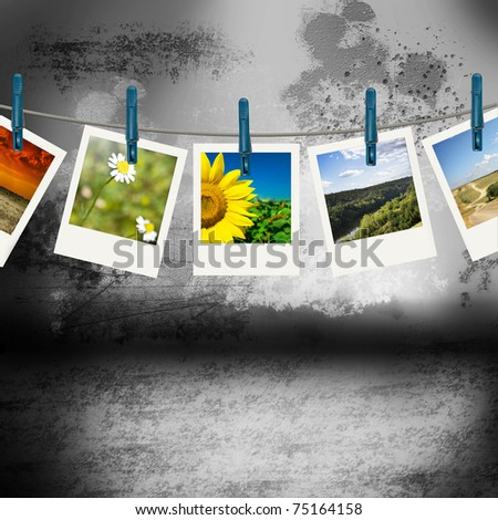 Nature Photo with Old Styled Interior - stock photo