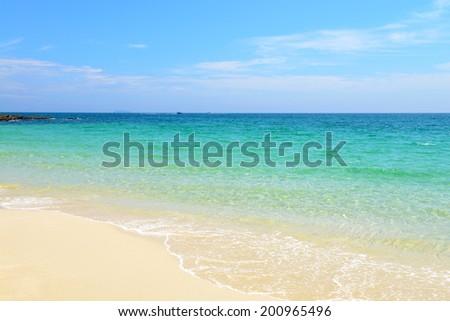 nature scene tropical beach and sea in koh samed island Thailand  - stock photo
