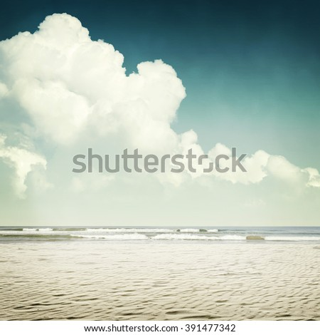 Nature tropic background in vintage style - stock photo