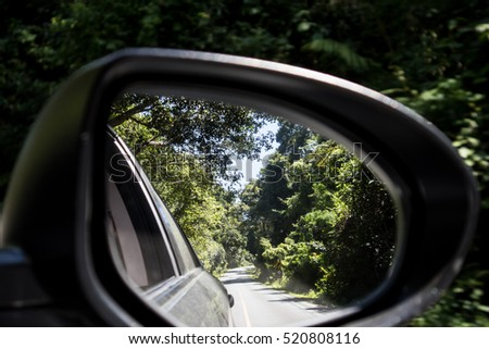 Nature View in Side Car Mirror