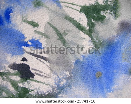 Nature Watercolor Background - stock photo