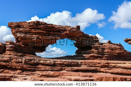 Natures Window, Kalbarri National Park, Western Australia - stock photo