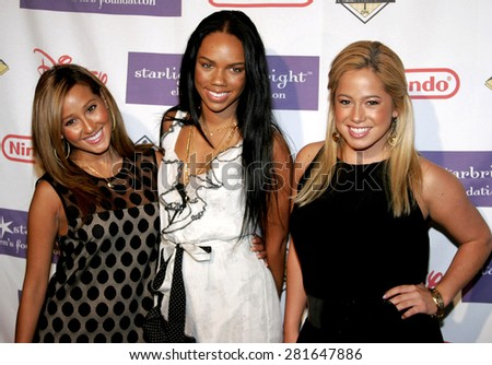 Naturi Naughton, Kiely Williams and Adrienne Bailon of The Cheetah Girls at the 2007 Starlight Starbright Gala held at the Beverly Hilton Hotel in Beverly Hills, California on March 23, 2007. - stock photo