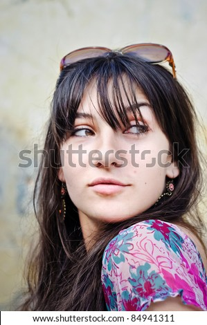 Naughty girl - stock photo