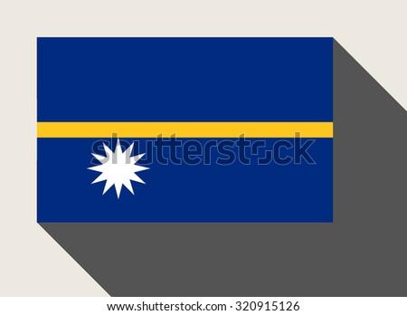Nauru flag in flat web design style. - stock photo