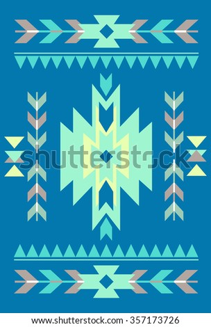 Navajo abstract card templates for design wedding cards, party invitations, birthday, Valentines day, cover with tribal, navajo, ethnic, geometric patterns and elements - stock photo