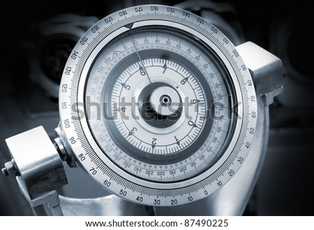Naval gyrocompass monochrome photo - stock photo
