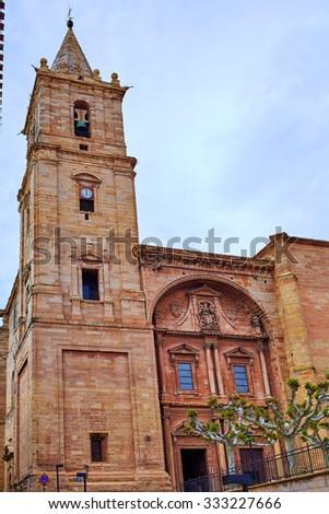 Navarrete church in The Way of Saint James at La Rioja Spain - stock photo