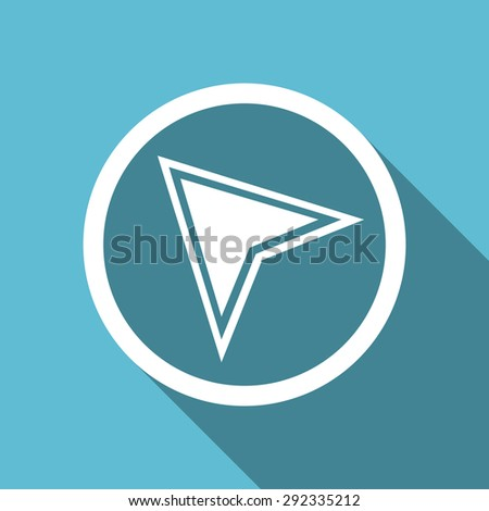navigation flat icon  original modern design flat icon for web and mobile app with long shadow  - stock photo