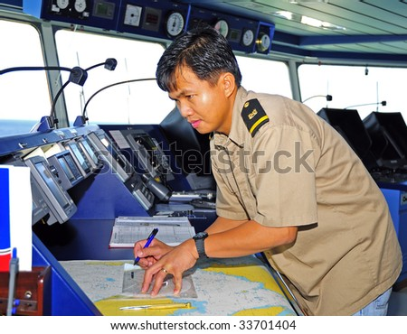 Navigation officer - stock photo