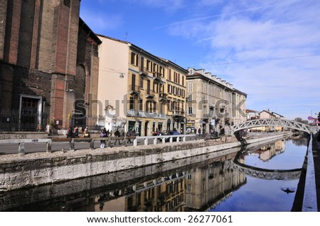 Naviglio Milan - stock photo
