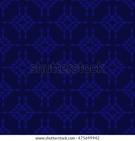 Navy abstract background, striped textured geometric seamless pattern