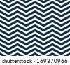 Navy Blue  and White Zigzag Textured Fabric Background that is seamless and repeats - stock vector